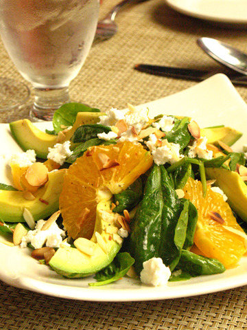 Baby Spinach, Avocado and Orange salad at Giardino Restaurant