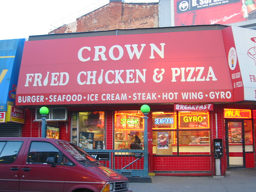 Exterior at Crown Fried Chicken