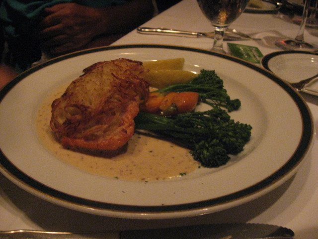 Potato Crusted Salmon at Five Crowns