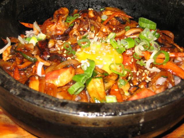 Seafood Bibimbap at Doobu