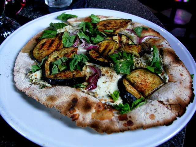 Photo of Spinach and Eggplant Pizza