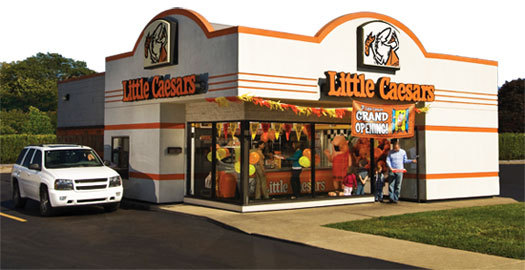Exterior at Little Caesars
