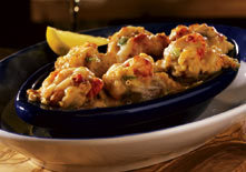 Lobster, Crab and Seafood-Stuffed Mushrooms at Red Lobster