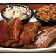 Rib Sampler at Sticky Fingers Restaurant & Bar