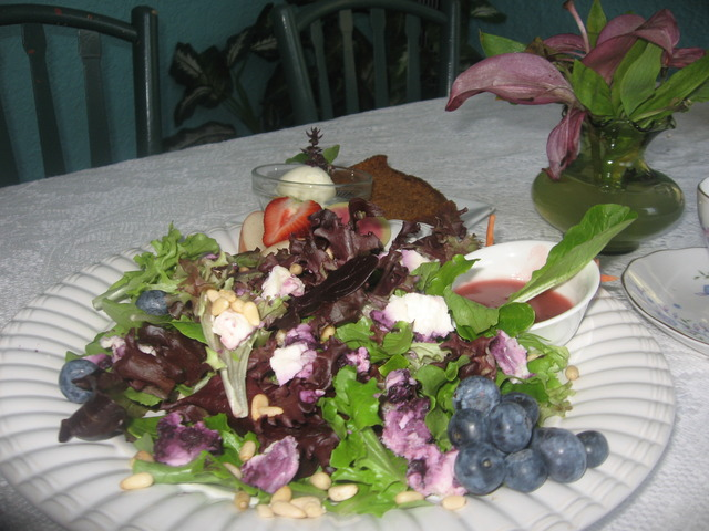 Made from organic and locally grown ingredients! - Organic Blueberry Goat Cheese Salad at Charisma Cafe