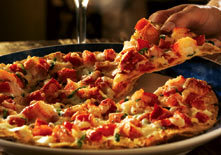 Lobster Pizza at Red Lobster