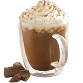 Hazelnut Signature Hot Chocolate at Starbucks Coffee