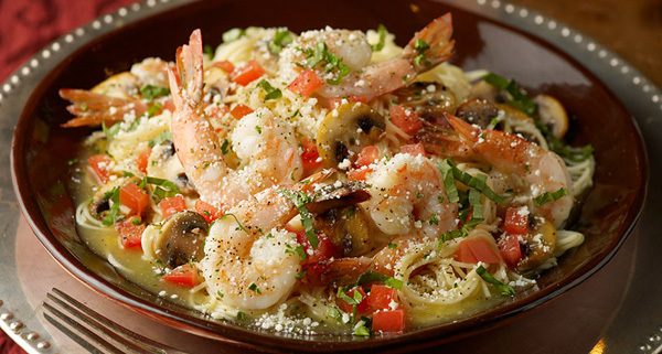 Shrimp Scampi at Carino's Italian Grill