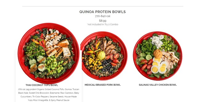 QUINOA PROTEIN BOWLS - QUINOA PROTEIN BOWLS at Cafe Zupas
