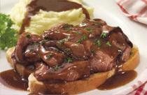 Open-Face Meatloaf at Perkins Restaurant