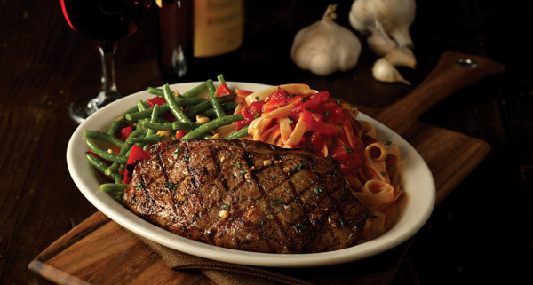 Grilled New York Strip at Carino's Italian Grill