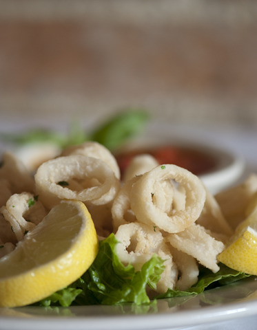 Chefs antipasti suggestion, one of our favorites! - Calamari Fritti at Villa Barone