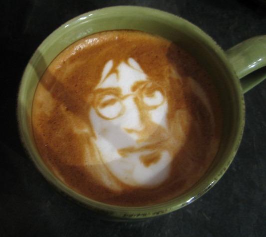John Lennon Latte Art - Latte at Studio 6