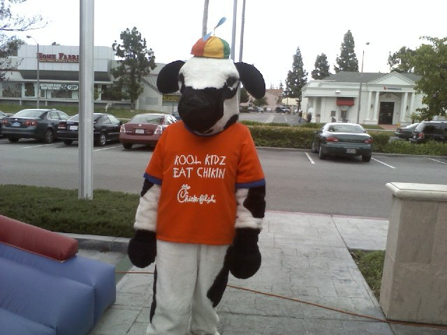 "The ""mascot"" of Chik-fil-A - Logo at Chick-fil-A"