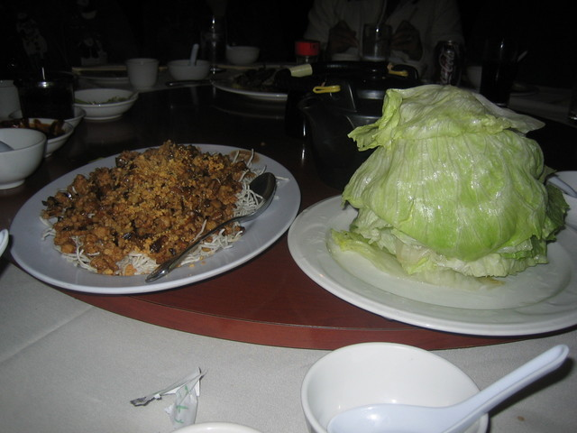 Lettuce Wrap with Squab at Russell's Seafood Palace (CLOSED)