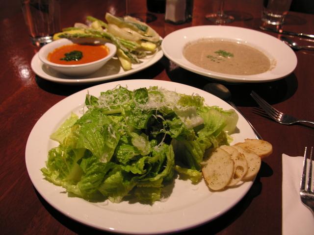Salad, soup and fritto - Roimaine Salad at Mark & Isabella