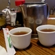 Hot tea is free with every meal - Hot tea at Szechuan Chinese Restaurant