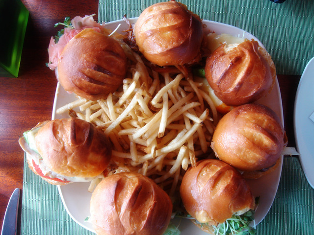 Gourmet Slider Combination Platter at 3 Thirty 3 Waterfront