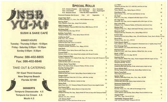 New Smyrna Beach To Go Restaurants Menu