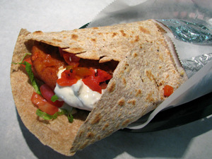Chicken Ranch Wrap at Theo's Pizzeria & Grill
