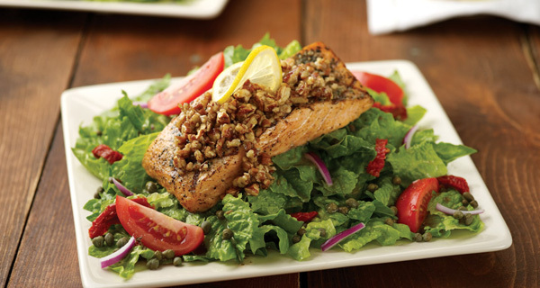 Honey-Pecan Salmon Salad at Carino's Italian Grill