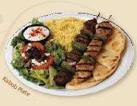 Ka-bob Plate at Daphne's Greek Cafe