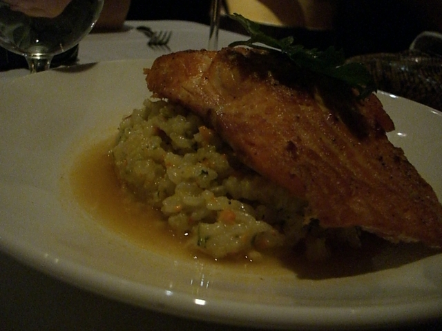 Photo of Salmon with Lobster Risotto