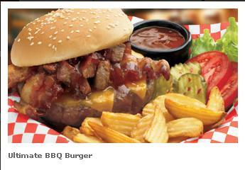 Ultimate BBQ Burger at Famous Dave's