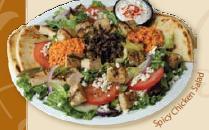 Spicy Greek Chicken Salad at Daphne's Greek Cafe