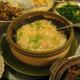 Steamed Tofu w/Diced Seafood on Lotus Leaf - Steamed Tofu w/Diced Seafood on Lotus Leaf at Hong Kong Saigon Seafood Harbor Restaurant
