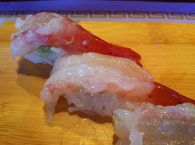 Ama Ebi or sweet shrimp sushi at Momo's Sushi Japanese