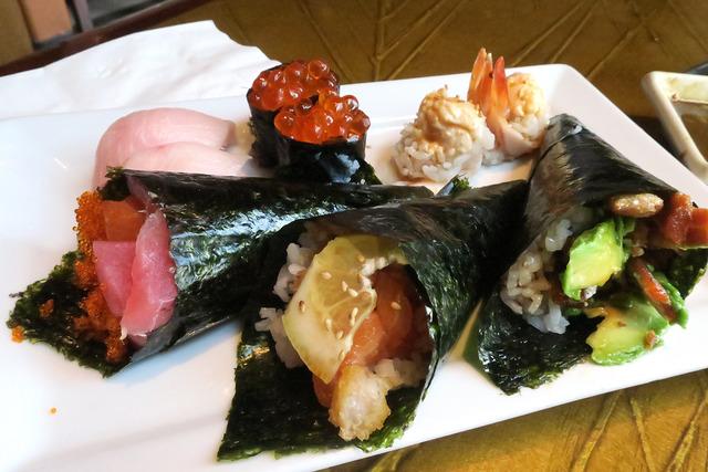assorted sushi at Jazmine