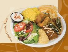 Veggie Combo Plate at Daphne's Greek Cafe