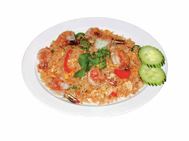 Bebe's Shrimp Fried Rice at Bebes Cafe