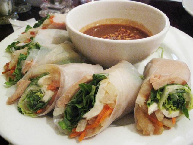 Summer Rolls at One World Vegetarian Cuisine
