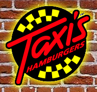 Logo at Taxi's Hamburgers
