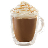 Salted Caramel Signature Hot Chocolate at Starbucks Coffee