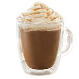 Salted Caramel Signature Hot Chocolate at Starbucks Coffee