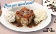 Dave's Famous Bread Pudding at Famous Dave's