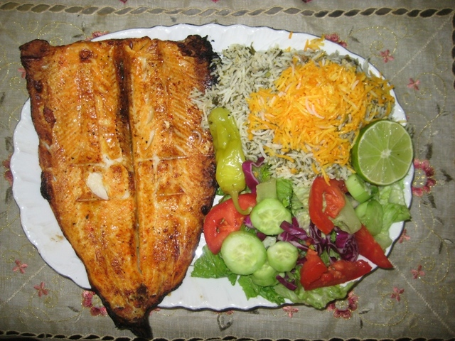 Grilled Trout Dinner at Saghi Restaurant Cabaret