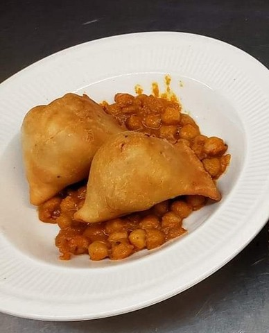 Samosa at Chutes Restaurant and Lounge