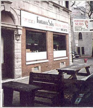 Exterior at Fontano's Subs