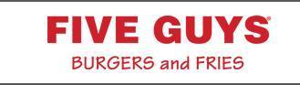 Logo at Five Guys Burgers & Fries