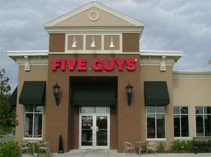 Exterior at Five Guys