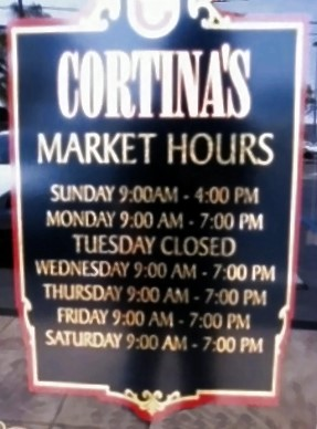 Logo at Cortina Italian Market