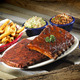 ST. LOUIS STYLE RIBS at Red Hot & Blue Restaurant