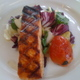 Served with a warm tri-color salad.   - Scottish Salmon at Santa Monica Seafood Co.