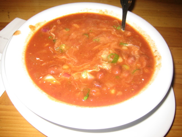 Bean Me Up Chili at Veggie Grill