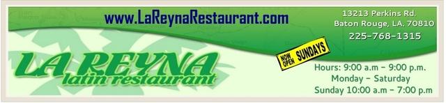 Logo at La Reyna Restaurant