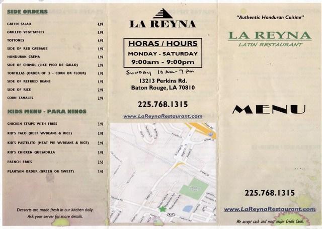 Dish at La Reyna Restaurant